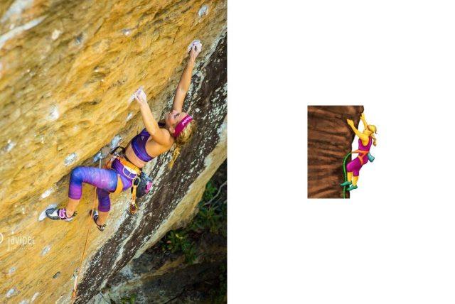 Sasha DiGiulian emoji escalada
