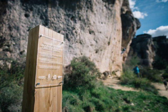 carteles informativos Escalada Sostenible en Cuenca