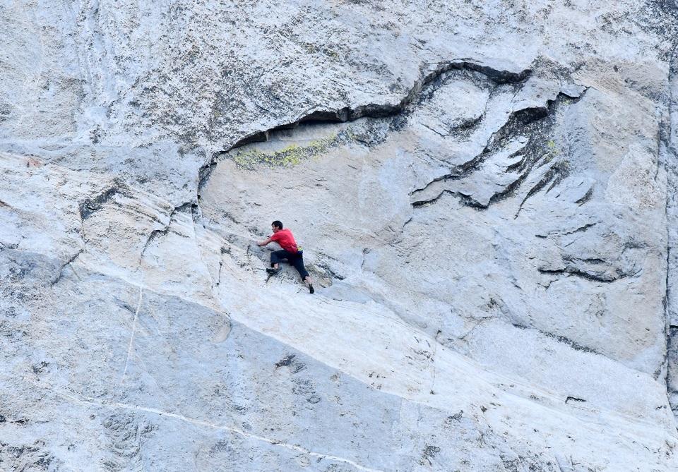 Alex Honnold slab 'Free Blast' Freerider El Capitan