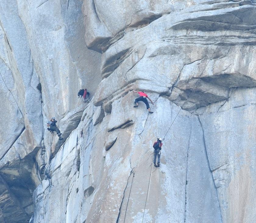 Alex Honnold 'Traverse pitch' 'Freerider' El Capitan