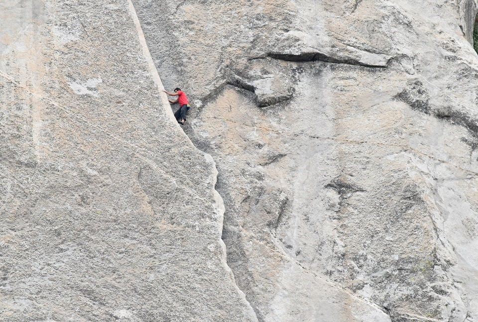 Alex Honnold 'Hollow Flake' 'Freerider' El Capitan