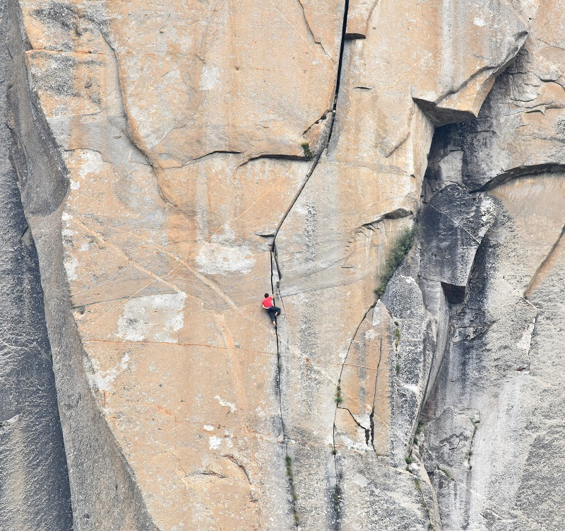 Alex Honnold Freerider The Monster section El Capitan