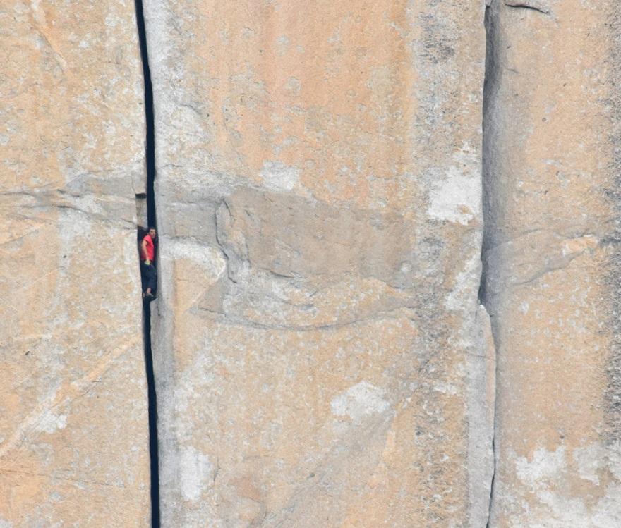 Alex Honnold reposo 'Monster Crack' 'Freerider' El Capitan