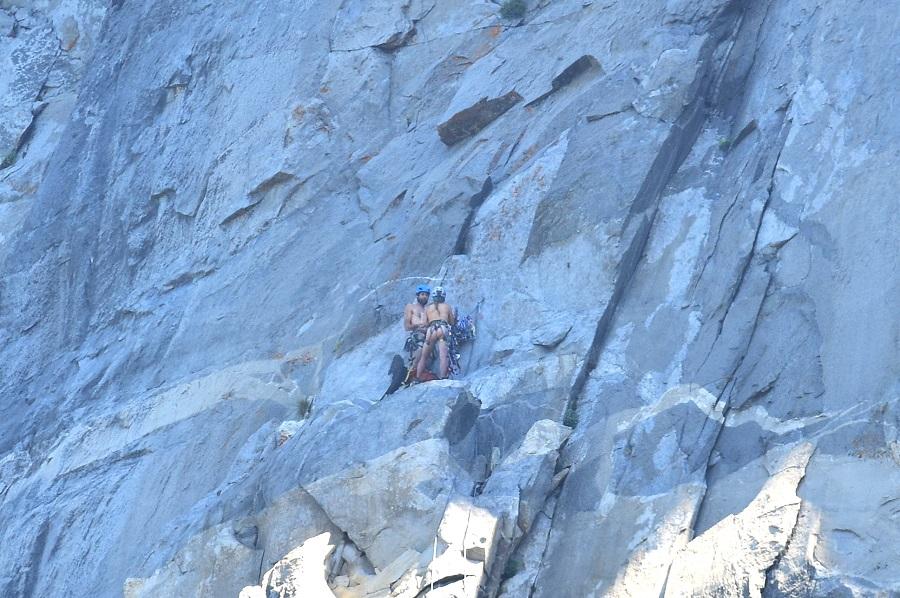 Cordada desnuda en El Capitan