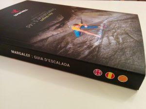 contraportada nueva guía escalada Margalef