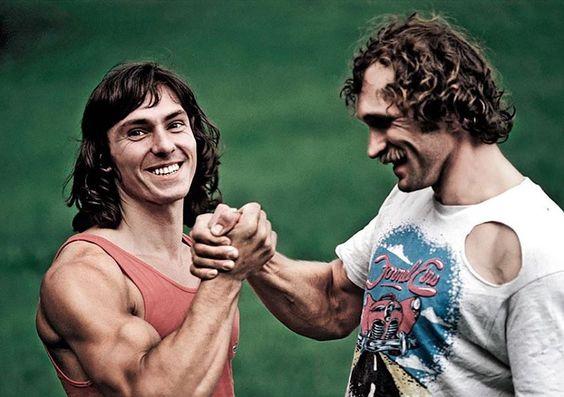 Wolfgang Güllich y Kurt Albert - foto Thomas Ballenberger