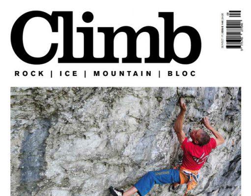 portada último número en papel revista escalada Climb Magazine