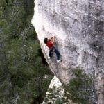 Wolfgang Güllich escalando en 'Queda Usted Despedido' 7c+ Can Rebotat Siurana 1