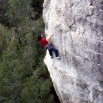 Wolfgang Güllich escalando en 'Queda Usted Despedido' 7c+ Can Rebotat Siurana 8