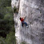 Wolfgang Güllich escalando en 'Queda Usted Despedido' 7c+ Can Rebotat Siurana 9