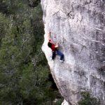 Wolfgang Güllich escalando en 'Queda Usted Despedido' 7c+ Can Rebotat Siurana 6