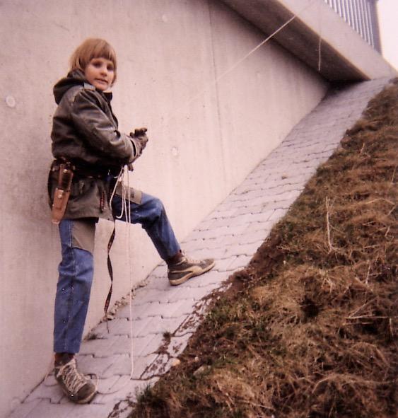 Hannes Huch primeras escaladas 1986