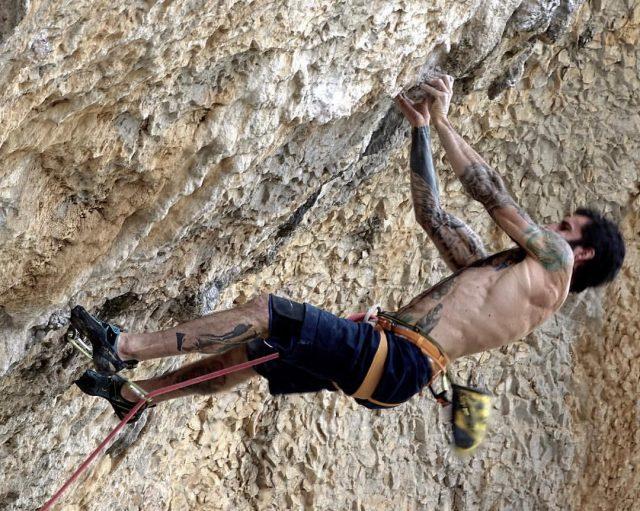 Luis Rodríguez escalador