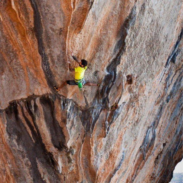 Luis Rodriguez escalando 'Chilam Malenum'