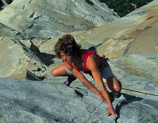 Lynn Hill escalando 'The Nose'