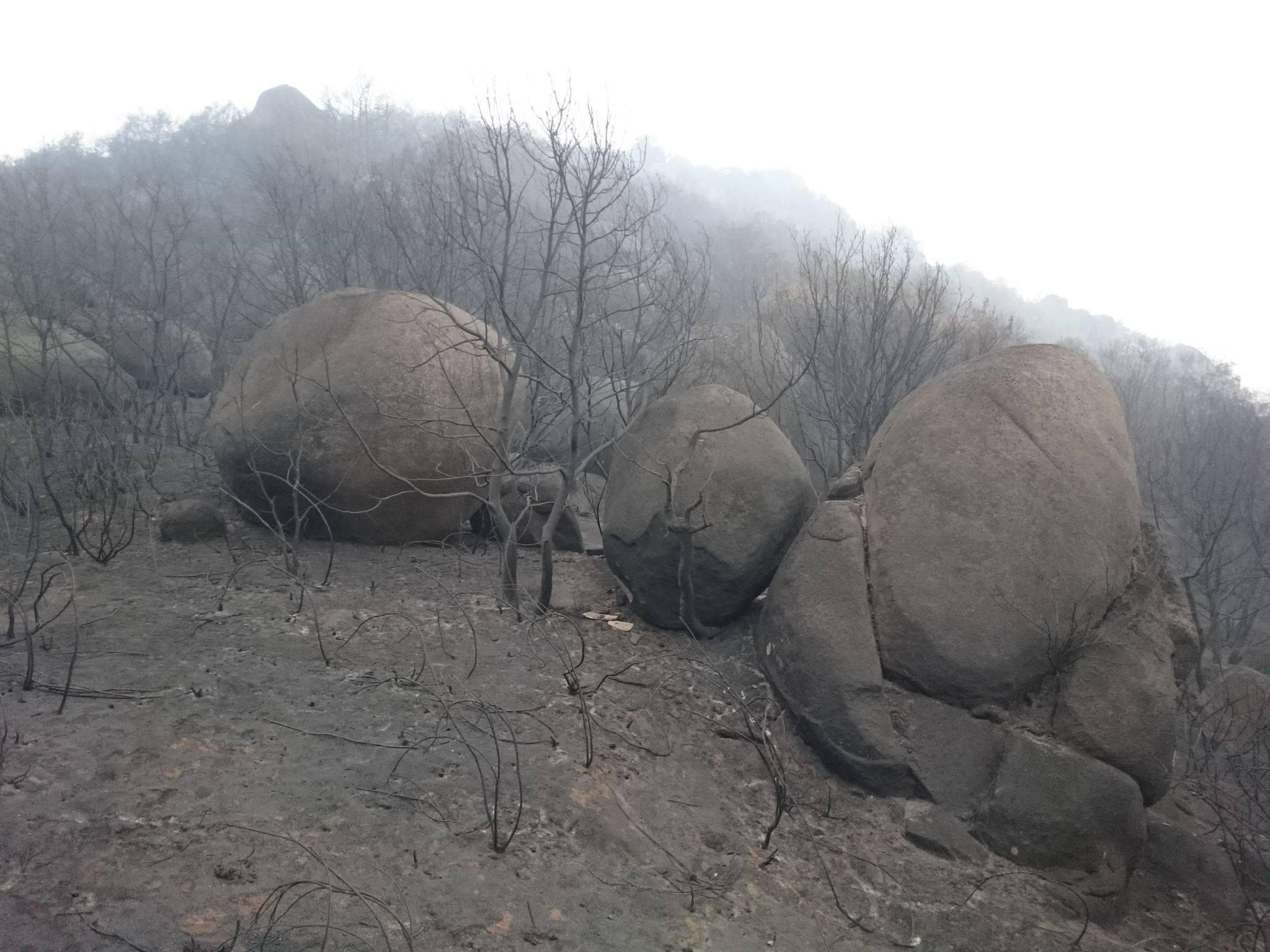 Pena Corneira incendio boulder