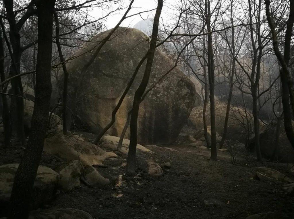 Pena Corneira boulder Galícia