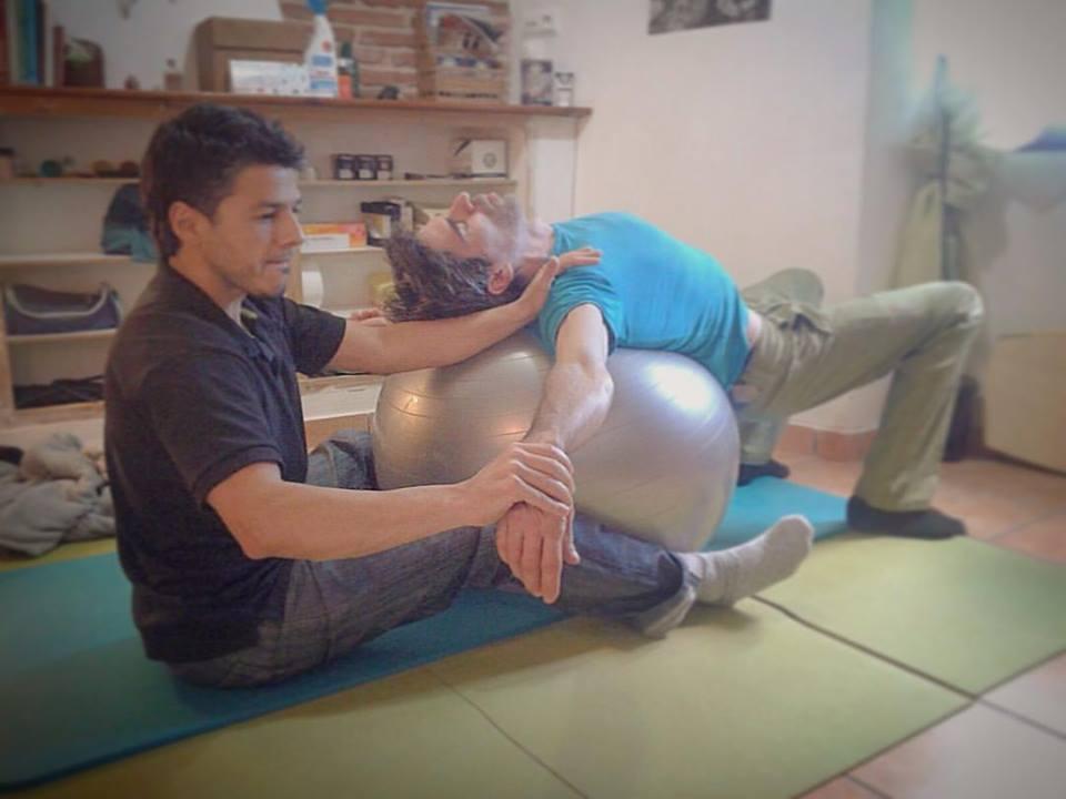 Pablo Scorza trabajando con Dani Andrada