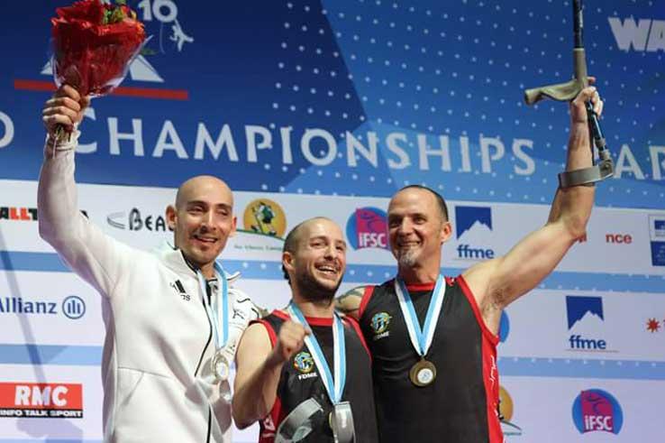 Ivan Germán bronce en el campeonato del mundo paraescalada 2016