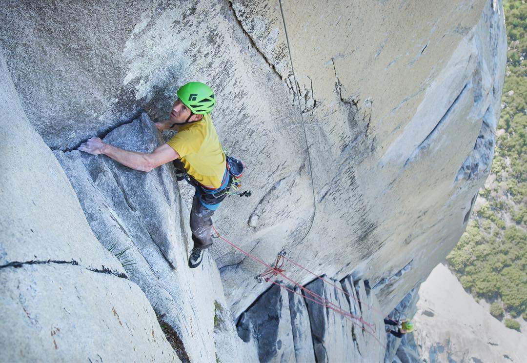 Alex Honnold liderando en The NoseAlex Honnold liderando en The Nose