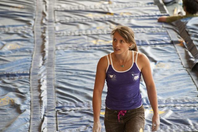 Anna Stöhr escaladora