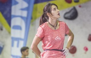 Rebeca Pérez escaladora