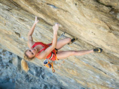Julia Chanourdie escalando 'Ground Zero' 9a