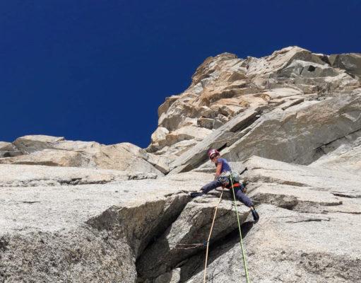 Nina Caprez escalando 'L'Or du Temps'