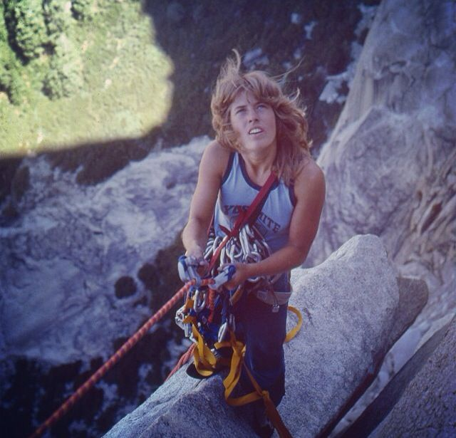Lynn Hill escalando en El Capitan