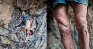 Adam Ondra escalando en Macedonia