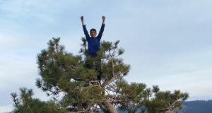 Connor Herson en la cima de El Capitan