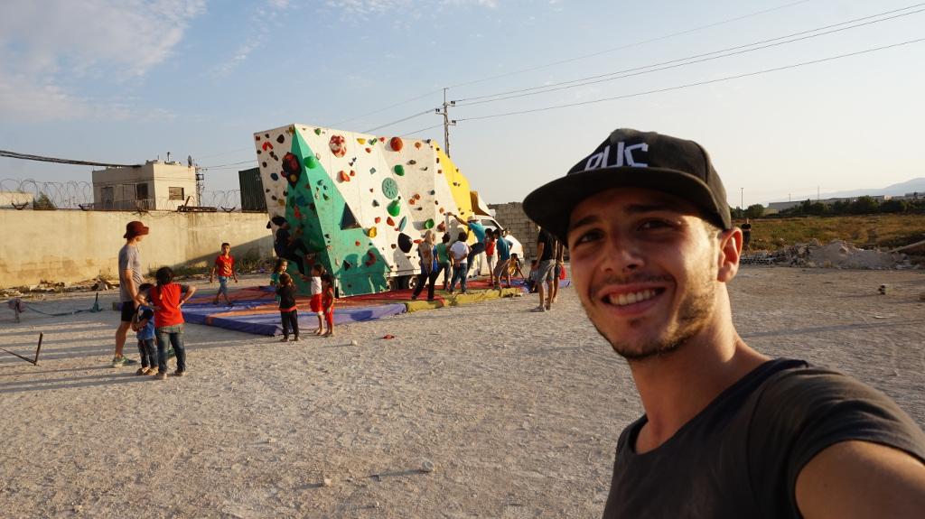 Lucas de Jesús voluntario en Climbaid