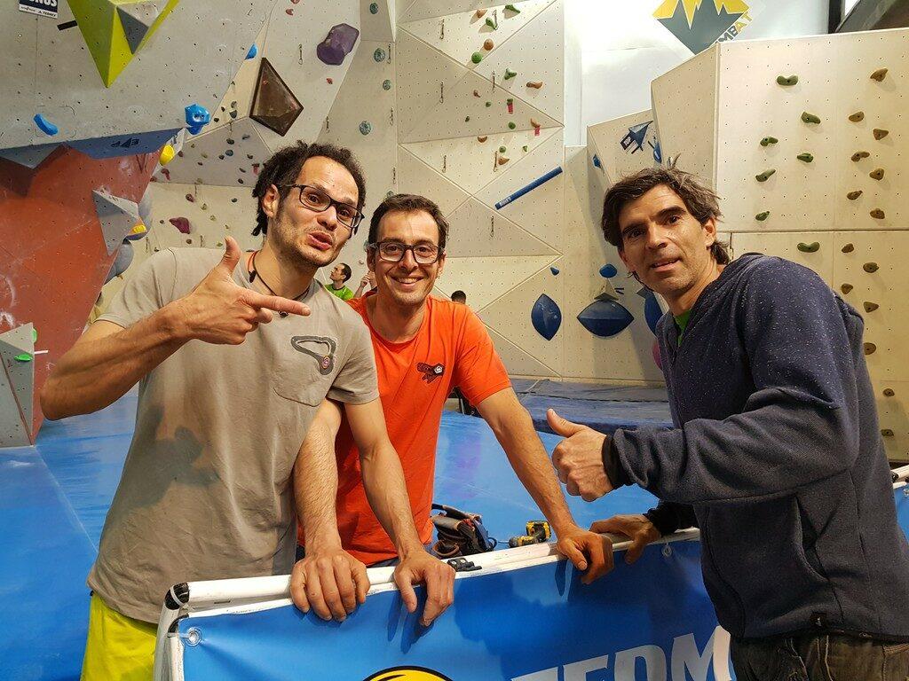 Carlos Catari, José Luis Palao y Dani Andrada