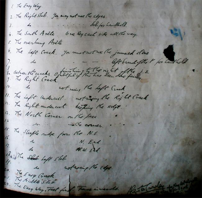 Reseña guía de boulder Aleister Crowley