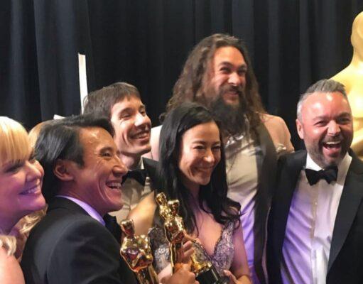 """El equipo de """"Free Solo"""" recoge el Oscar"""