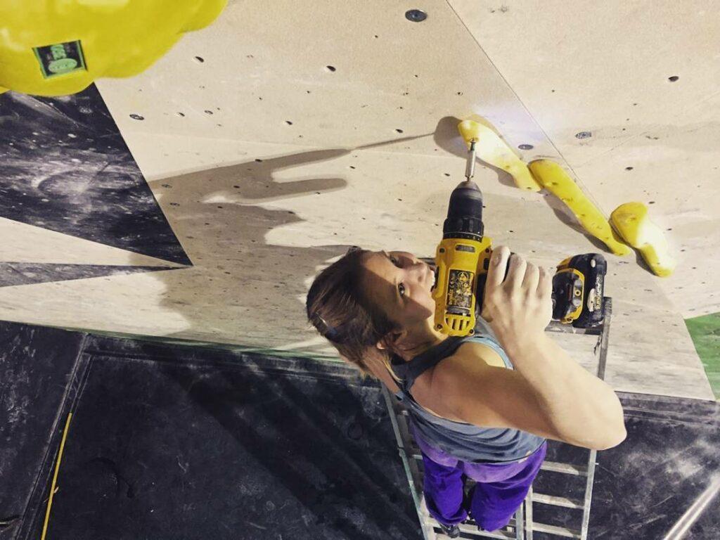 Katja Vidmar escaladora y route setter