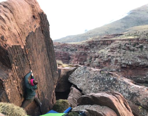Boulder en Oukaimeden