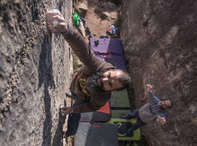 Boulder en El Cogul