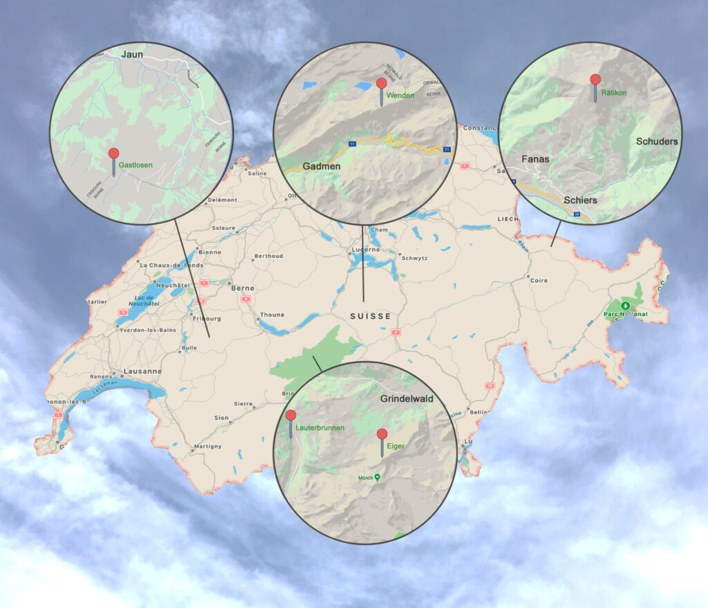 mapa vías Cédric Lachat