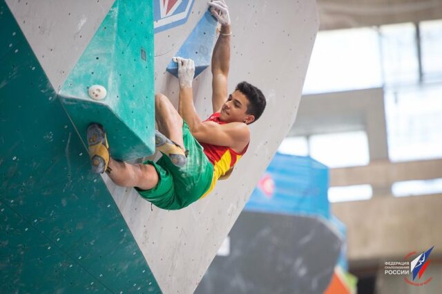 Alberto Ginés en competición