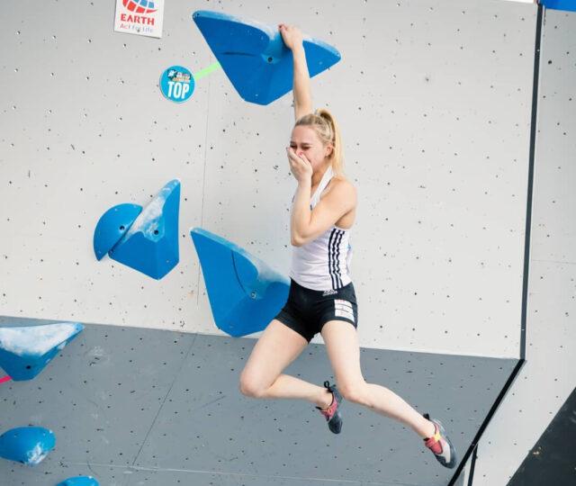 Janja Garnbret compitiendo en Vail