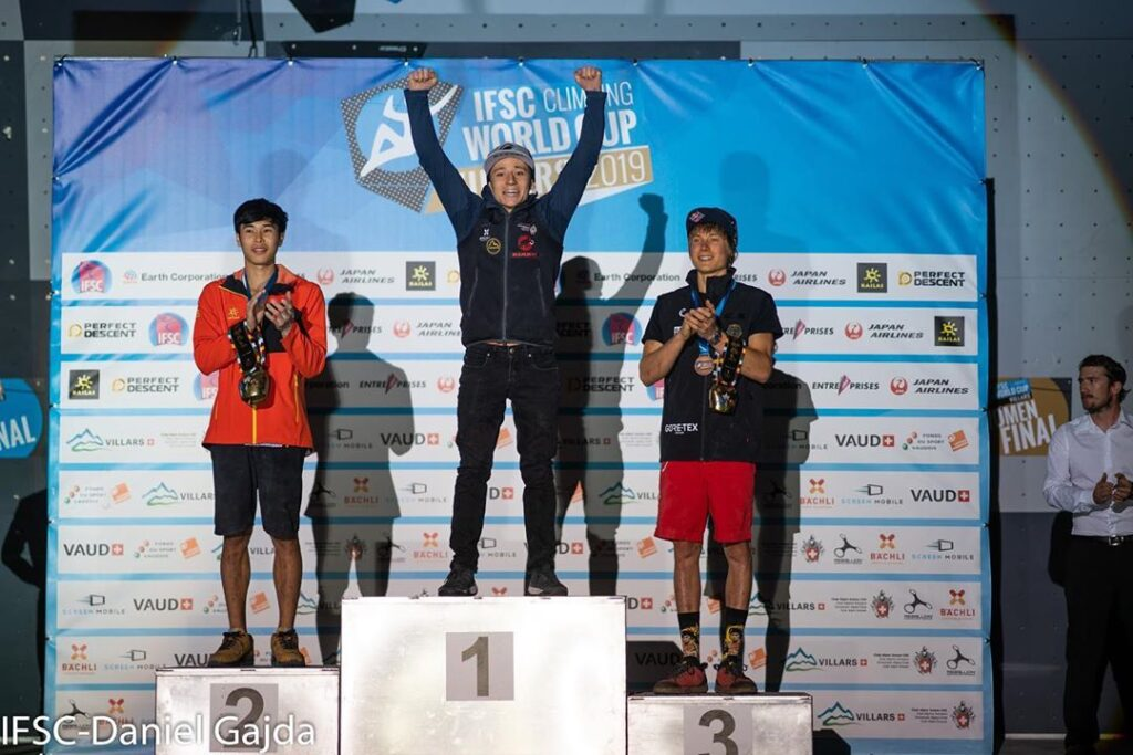 podio masculino Villars 2019