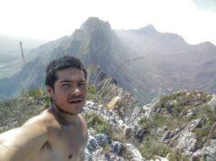 José Hernández en la cima de El Toro