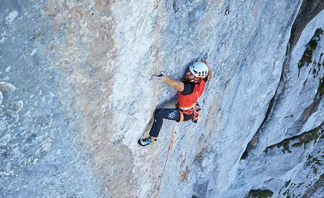 Siebe Vanhee escalando 'Yeah Man'