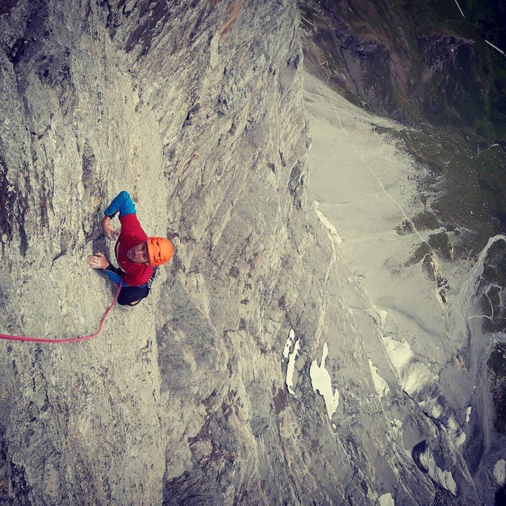 Unai Mendia en la cara norte del Eiger