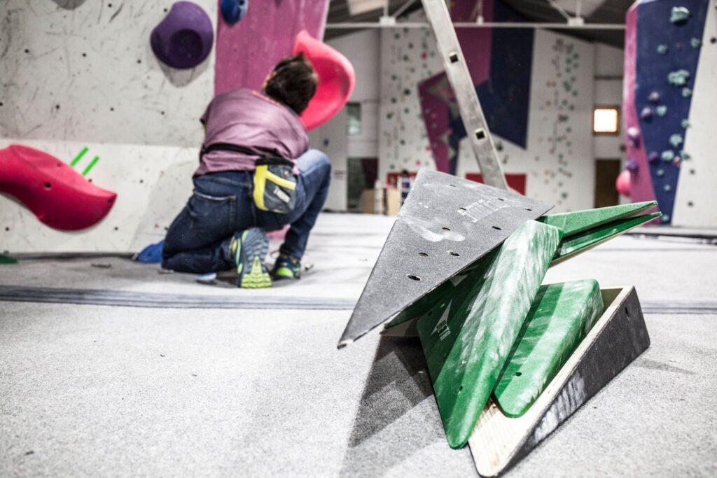 Volúmenes para escalada en una competición