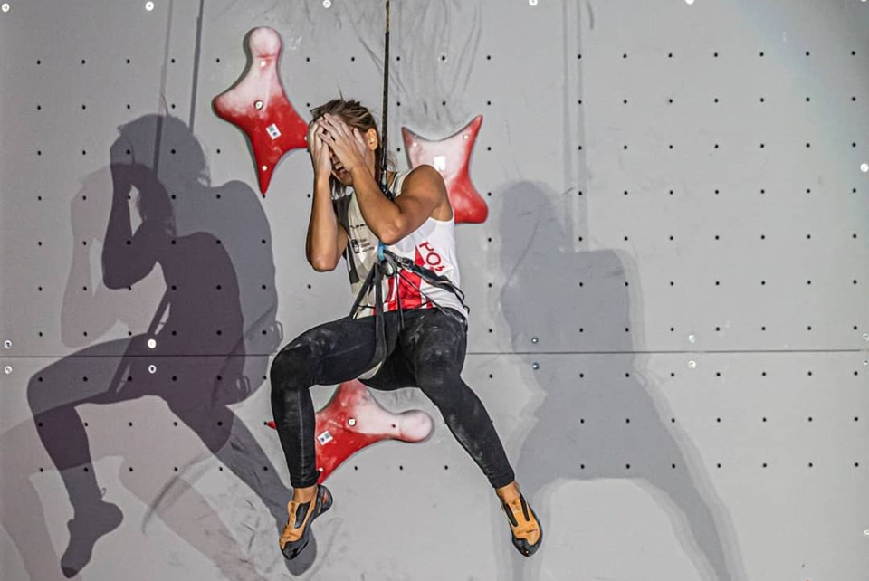 Aleksandra Miroslaw escaladora de velocidad