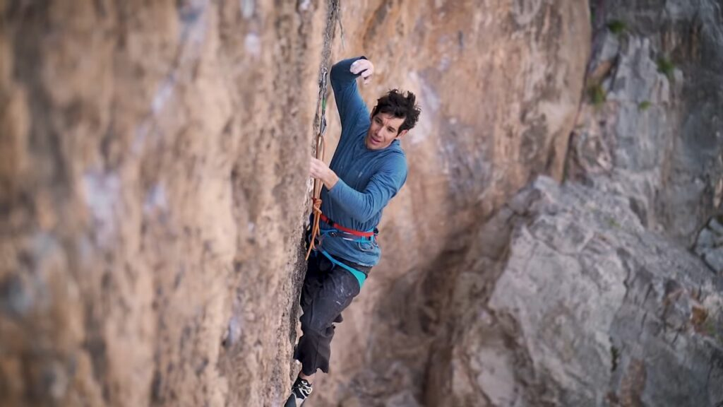 Alex Honnold en Atonement 5.14b 8c