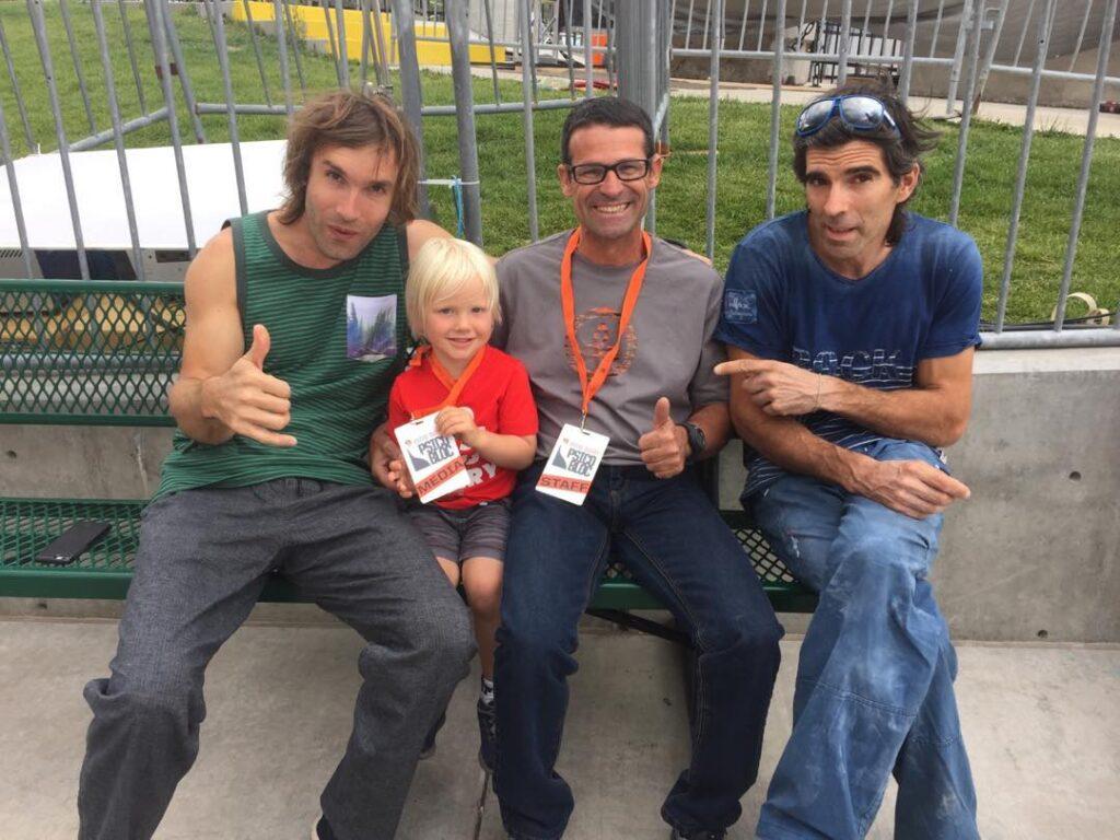 Chris Sharma, Miquel Riera y Dani Andrada