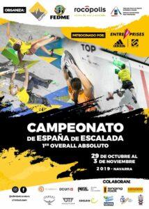 cartel Campeonato de España Escalada 2019